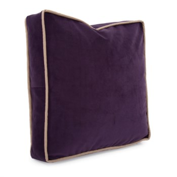 """20"""" Gusseted Pillow Bella Eggplant - Down Insert"""