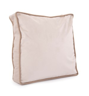 "20"" Gusseted Pillow Bella Sand - Down Insert"