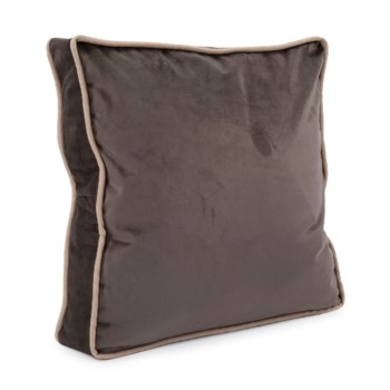 """20"""" Gusseted Pillow Bella Pewter - Down Insert"""