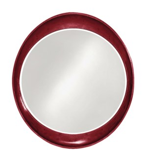 Ellipse Mirror - Glossy Burgundy