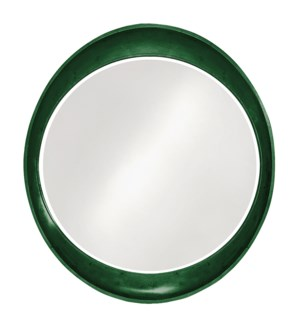 Ellipse Mirror - Glossy Hunter Green