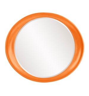 Ellipse Mirror - Glossy Orange