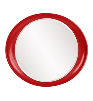 Ellipse Mirror - Glossy Red
