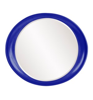 Ellipse Mirror - Glossy Royal Blue