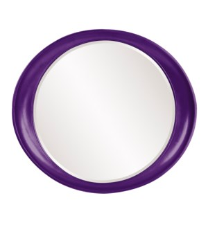 Ellipse Mirror - Glossy Royal Purple