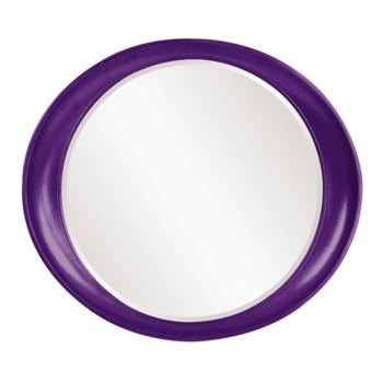 Ellipse Mirror - Glossy Royal Purple