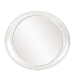Ellipse Mirror - Glossy White
