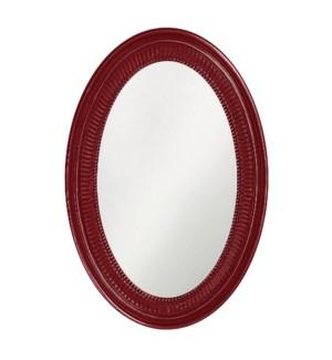 Ethan Mirror - Glossy Burgundy