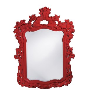 Turner Mirror - Glossy Red