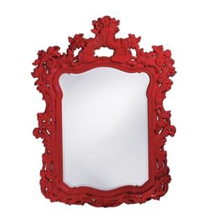 Turner Mirror - Glossy Red