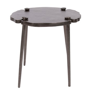 Spiked Aluminum Side Table
