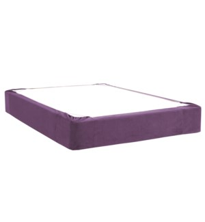 Twin Boxspring Cover Bella Eggplant (Cover Only)