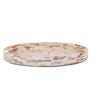 Round Mother of Pearl Tray