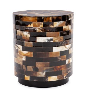 Elias Round Tiled Horn Stool