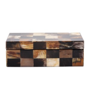 Elias Rectangular Horn Tiled Box