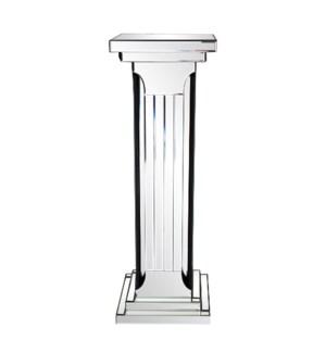 Mirrored Doric Style Pedestal
