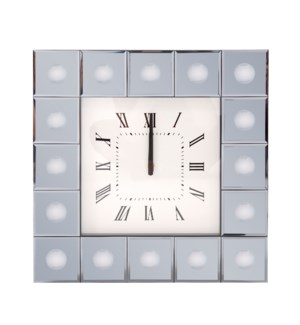 Grigio Mirrored Wall Clock