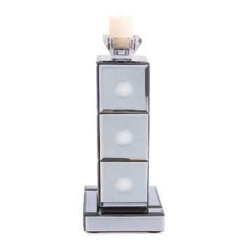 Grigio Mirrored Candle Holder