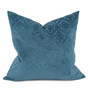 "24"" x 24"" Pillow Chelsey Indigo - Down Fill"