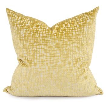 "24"" x 24"" Pillow Crevasse Citron - Down Fill"