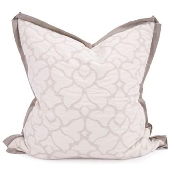 """24"""" x 24"""" Pillow Fleurs Linen - Down Fill"""