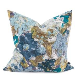 "24"" x 24"" Stanton Turquoise Pillow - Poly Insert"