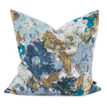 "24"" x 24"" Stanton Turquoise Pillow - Down Fill"