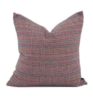"24"" x 24"" Alton Berry Pillow - Poly Insert"