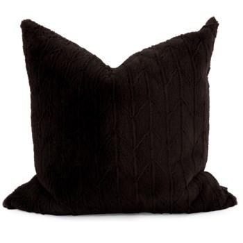 """24"""" x 24"""" Angora Ebony Pillow - Poly Insert"""