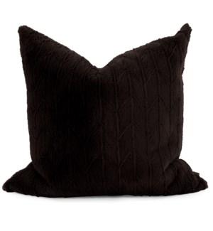 "24"" x 24"" Angora Ebony Pillow - Down Fill"
