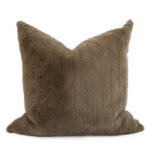 """24"""" x 24"""" Angora Moss Pillow - Poly Insert"""