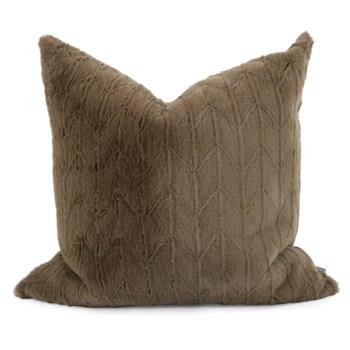 """24"""" x 24"""" Angora Moss Pillow - Down Fill"""