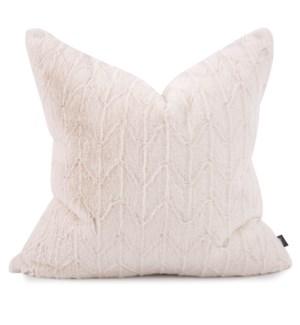"""24"""" x 24"""" Angora Natural Pillow - Poly Insert"""