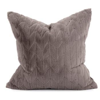 "24"" x 24"" Angora Stone Pillow - Poly Insert"