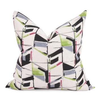 "24"" x 24"" Abstract Fuchsia Pillow - Poly Insert"