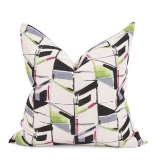 "24"" x 24"" Abstract Fuchsia Pillow - Down Fill"