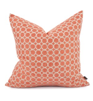 """24"""" x 24"""" Pyth Coral Pillow - Poly Insert"""