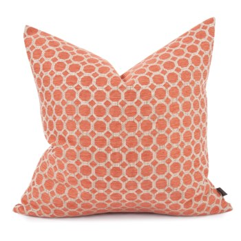 """24"""" x 24"""" Pyth Coral Pillow - Down Fill"""