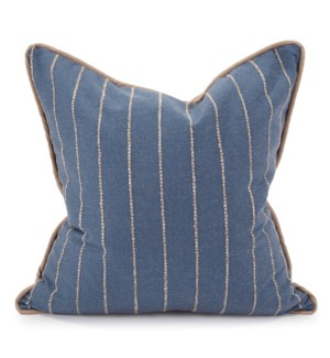 "24"" x 24"" Pillow Evie Indigo - Down Insert"