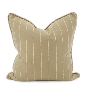 "24"" x 24"" Pillow Evie Moss - Down Insert"