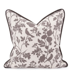 "24"" x 24"" Pillow Sparrow Natural - Down Insert"
