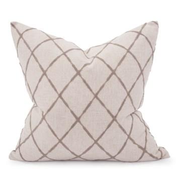 "24"" x 24"" Pillow Lyric Pewter - Down Insert"