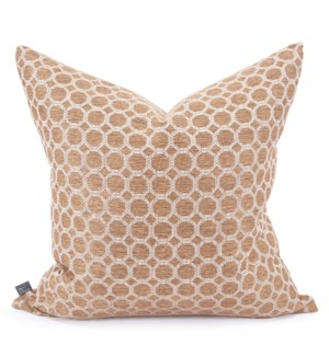 "24"" x 24"" Pillow Pyth Gold - Poly Insert"