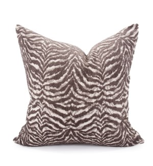 "24"" x 24"" Pillow Bengal Charcoal - Down Insert"