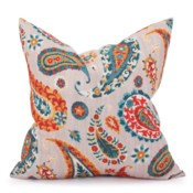 """24"""" x 24"""" Pillow Boteh Turquoise - Down Insert"""