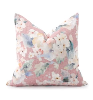 24 in. x 24 in. Pillow Claude Blush  - Down Insert