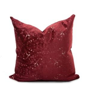 24 in. x 24 in. Pillow Pisani Ruby - Down Insert