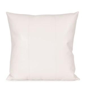 """24"""" x 24"""" Avanti White Pillow"""