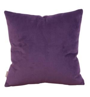 "24"" x 24"" Bella Eggplant Pillow - Poly Insert"