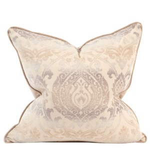 "24"" x 24"" Pillow Damask Sand - Down Insert"